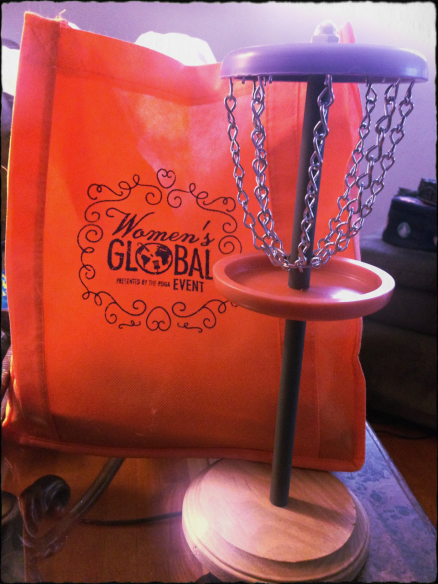 This cool mini disc basket was hand crafted and donated by KC Onley! Great work and thank you very much KC!